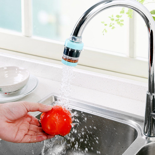 kitchen faucet filter booth ideas household maifan stone magnetized water purifier tap bathroom saving device