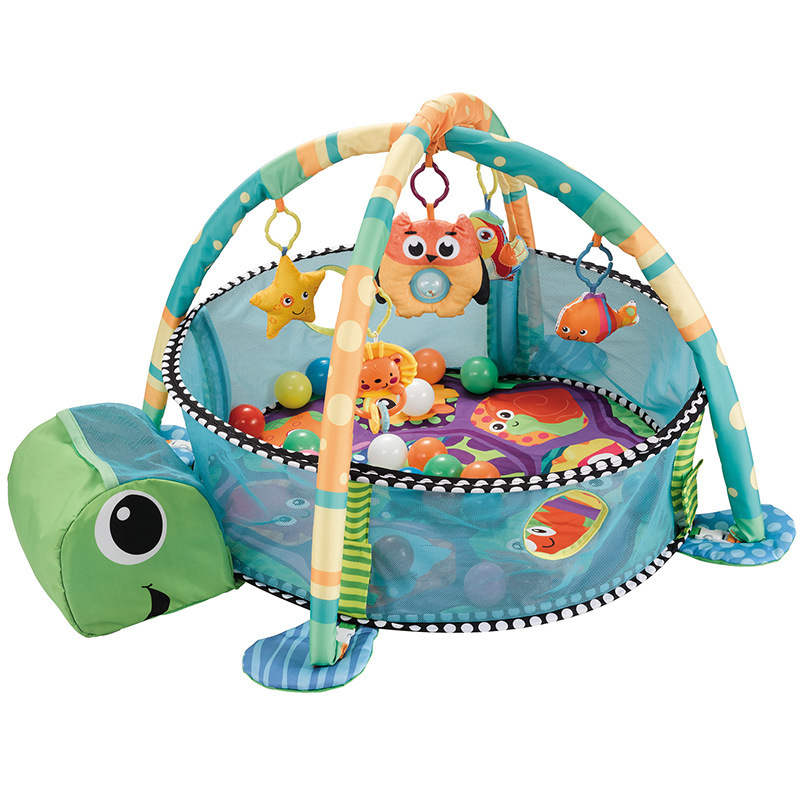 Baby Developing Gym Playmat Baby Activity Gym Turtle Design Balls Included