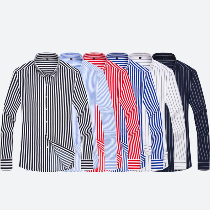 Shirts Zogaa Men Long Sleeve Formal Mens Striped Dress Shirts Social Turn-down Collar Regular Fit Business Male Smart Casual Shirt Factory Direct Selling Price