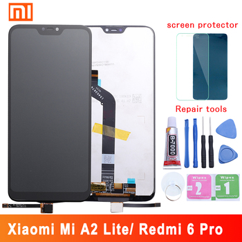 5.84 AAA Quality IPS LCD+Frame For Xiaomi Mi A2 Lite LCD Display Screen Replacement For Redmi 6 Pro LCD 2280*1080 Resolution factory quality ips lcd display 7 85 for supra m847g internal lcd screen monitor panel 1024x768 replacement