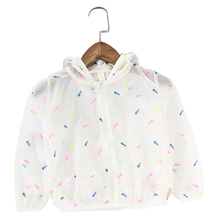 Baby Girl Sun Protection Clothing Breathable Kids Clothes Fish Bone Girl's Baby Hooded Outerwear Summer Air Conditioning Unlined