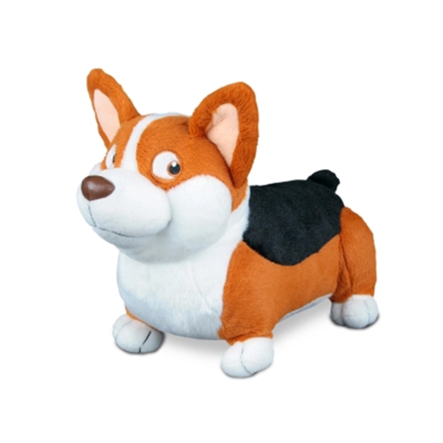 Funny Plush Welsh Corgi Dog Toy Sleep Baby Pillow Kids Cute Christmas Pillow Pelucia Newyear Gifts Knuffel For Girl 50D1007 usb powered funny cute stress relieving humping spot dog toy brown chocolate white