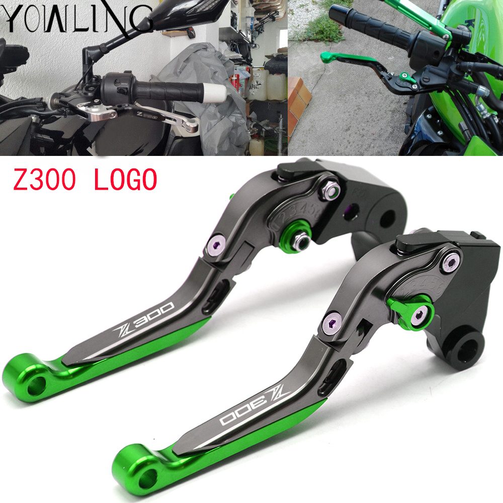 For KAWASAKI Z250 Z300 (ABS) VERSYS 300X 2008-2017/ NINJA 300R 300 R 2013-2017 Motorcycle Folding Extendable Brake Clutch Levers