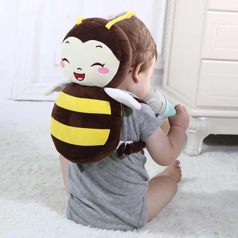 Protector de cabeza de bebé aprender a caminar proteger la cabeza almohada de seguridad de los niños almohadilla de protección de cabeza de bebé encantador ala de Ángel defensa caída