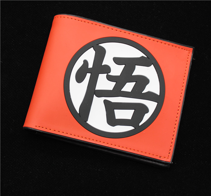 Brand New Dragon Ball Z PU Leather Fashion Short Design Wallet Women Wallet Men yellow Wallets Coin Pocket Card Holder