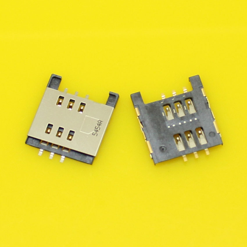 2pcs/lot High quality sim card socket connector for Blackberry 9800 and for Moto MT810 XT701 XT800.