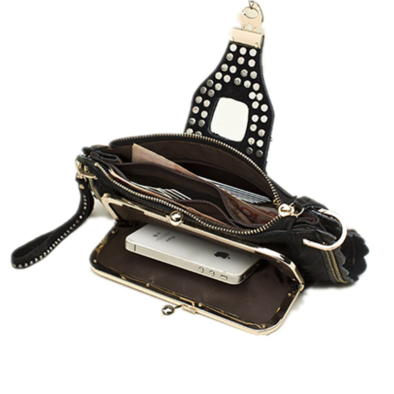 Women Evening Crystal Clutch Bags Horsehair Genuine Leather Clutches Ladies Party Hand Bags Chain Shoulder Crossbody Bags Female 5