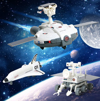 DIY Fun solar toys 3 in 1 mode with airplane/ car Novelty & Gag toys for child boys present