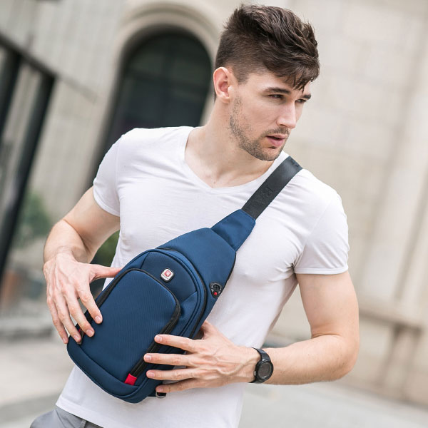 Crossbody Bags for Men Messenger Chest  Pack Casual Waterproof Nylon Single Shoulder Strap 2019 New Fashion