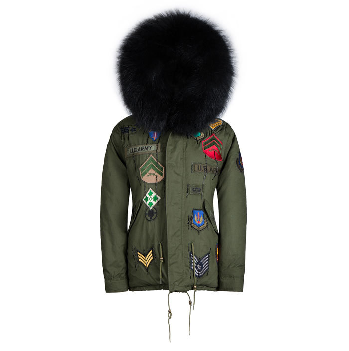 2016 new arrival charming jacket similar design with MR FURS