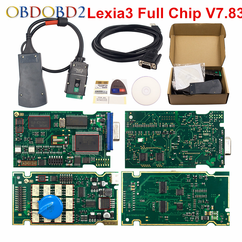 Новый Год выхода Lexia3 полный чип 921815C Lexia 3 V48 PP2000 V25 Diagbox V7.83 Lexia-3 авто инструмент диагностики для peugeot для Citroen