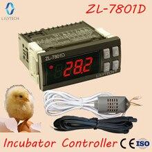 Mini ZL 7801D, controlador de incubadora automático multifuncional, controlador de incubadora de umidade com temperatura, lilytech