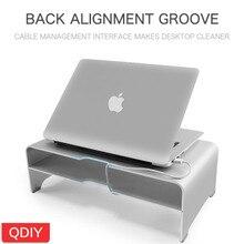 QDIY Computer Monitor Heightening Frame Aluminum Alloy Bracket IMAC Metal Desktop Keyboard Storage Notebook Base