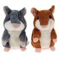Bonito Falar Falar Sound Record Hamster Falar Hamster Plush Toy Kids Educacional Brinquedo Linda Boneca