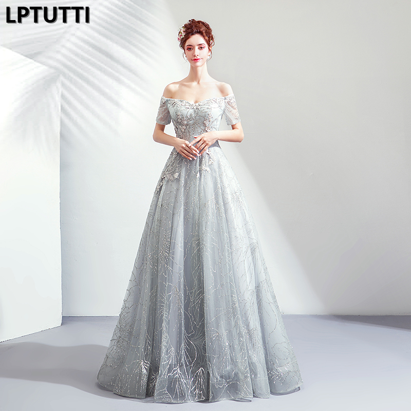 LPTUTTI Embroidery Sequin New For Women Elegant Date Ceremony Party Prom Gown Formal Gala Events Luxury Long   Evening     Dresses