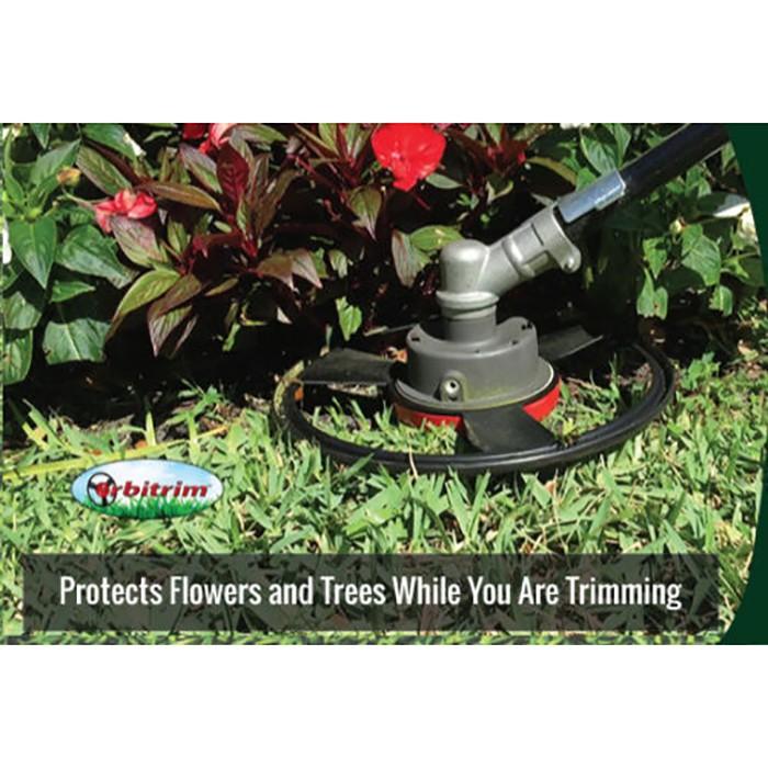 Насадка на газонный триммер Orbitrim. Аккуратная стрижка газона не повреждает деревья и цветники. Купить, Цена, Бесплатная доставка!