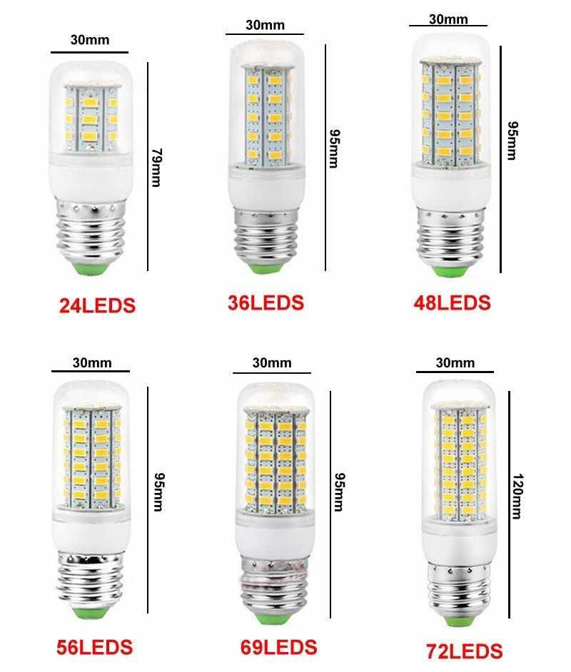 Bombillas de luz de ahorro de energía AC110V E27, 220-240 V, bombillas de luz LED, iluminación para exteriores, radiación sísmica no térmica resistente a golpes