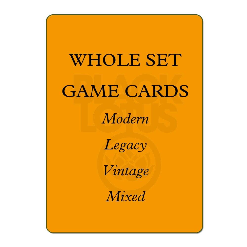 8,0 GANZE SET 56 teile/los Schwarz Kern Moderne/Legacy/Vintage/Landet Set Gemischt Schwarz Lotus TOP Qualität spielkarten Brettspiele Poker
