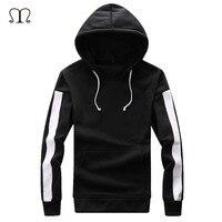 Hip Hop 2018 Fleece Hoodies Men Streetwear W Winter Mens Classical Black And White Hoodie Sweatshirt