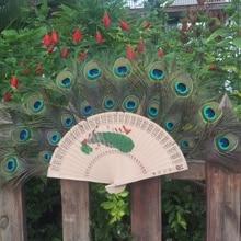 Натуральное павлинье перо веер дай специальный ручной работы веер из павлиньих перьев для домашнего танца