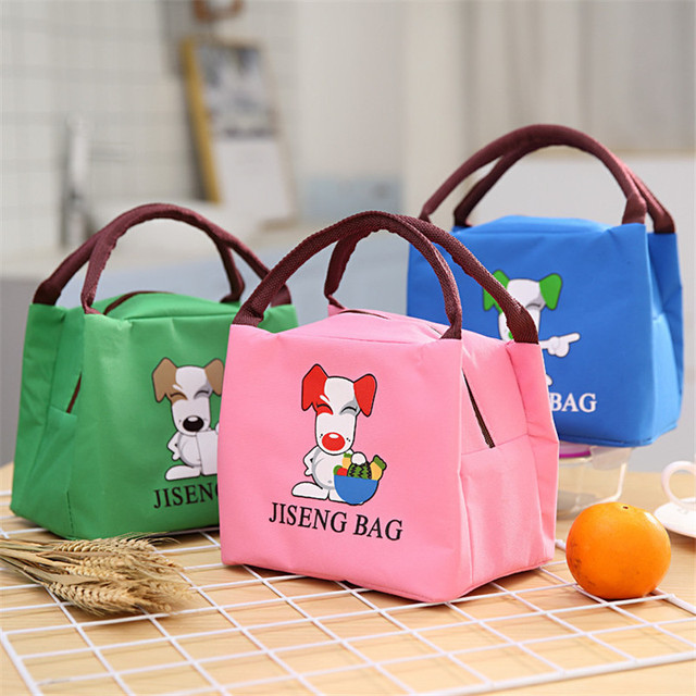 Portable Outdoor Picnic Bag Tote Insulated Thermal Lunch Box Kids Cartoon Animal Beach Food Picnic Cooler Camping Handbags