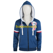 Supernova OW 76 Soldier Sweater Jacket Blue Roleplay Over Game Watch Sweater Men's Jacket Cosplay Adult Halloween Costumes