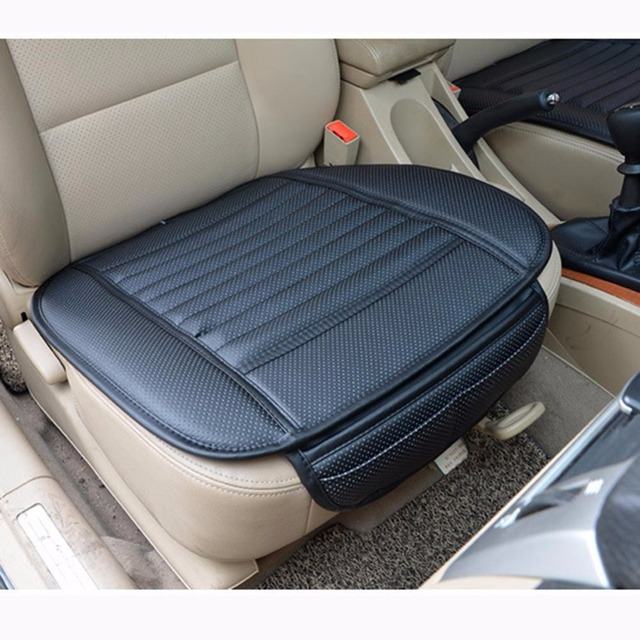 Car Bamboo Charcoal Leather Seat Cushion Breathable Therapy Chair Cover Pads