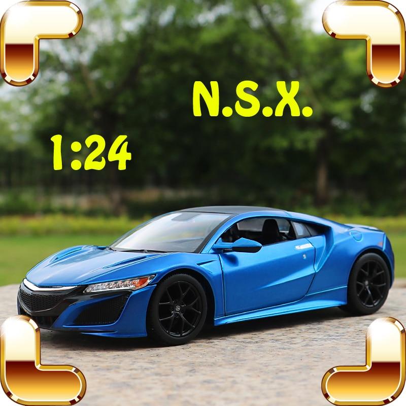 Julegave 1/24 NSX model metal bil legering dekoration køretøj samling legetøj diecast metal simulering ven nice nuværende
