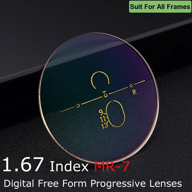 0277e8fdb8 1.67 High Index Ultra-thin Digital Free Form Progressive Optical  Prescription Multifocal Anti-Reflection Lenses For Eyeglasses