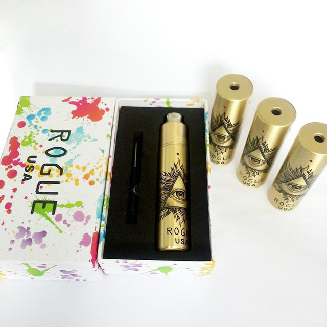 Hight quality e-cig mech mod rogue mod kit eye mod clone Brass Copper stainless e cigarette Mechanical Mod Kit