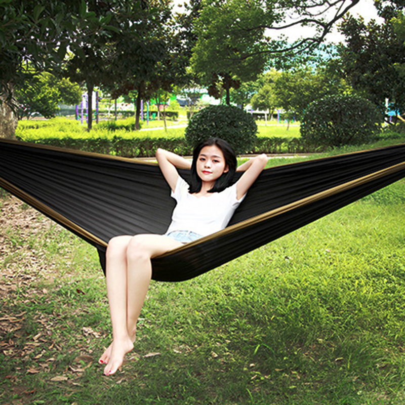hammock with hammock tree ropeportable parachute garden beach travel canvas nylon fabric camping  camel black  in hammocks from furniture on aliexpress       hammock with hammock tree ropeportable parachute garden beach      rh   aliexpress