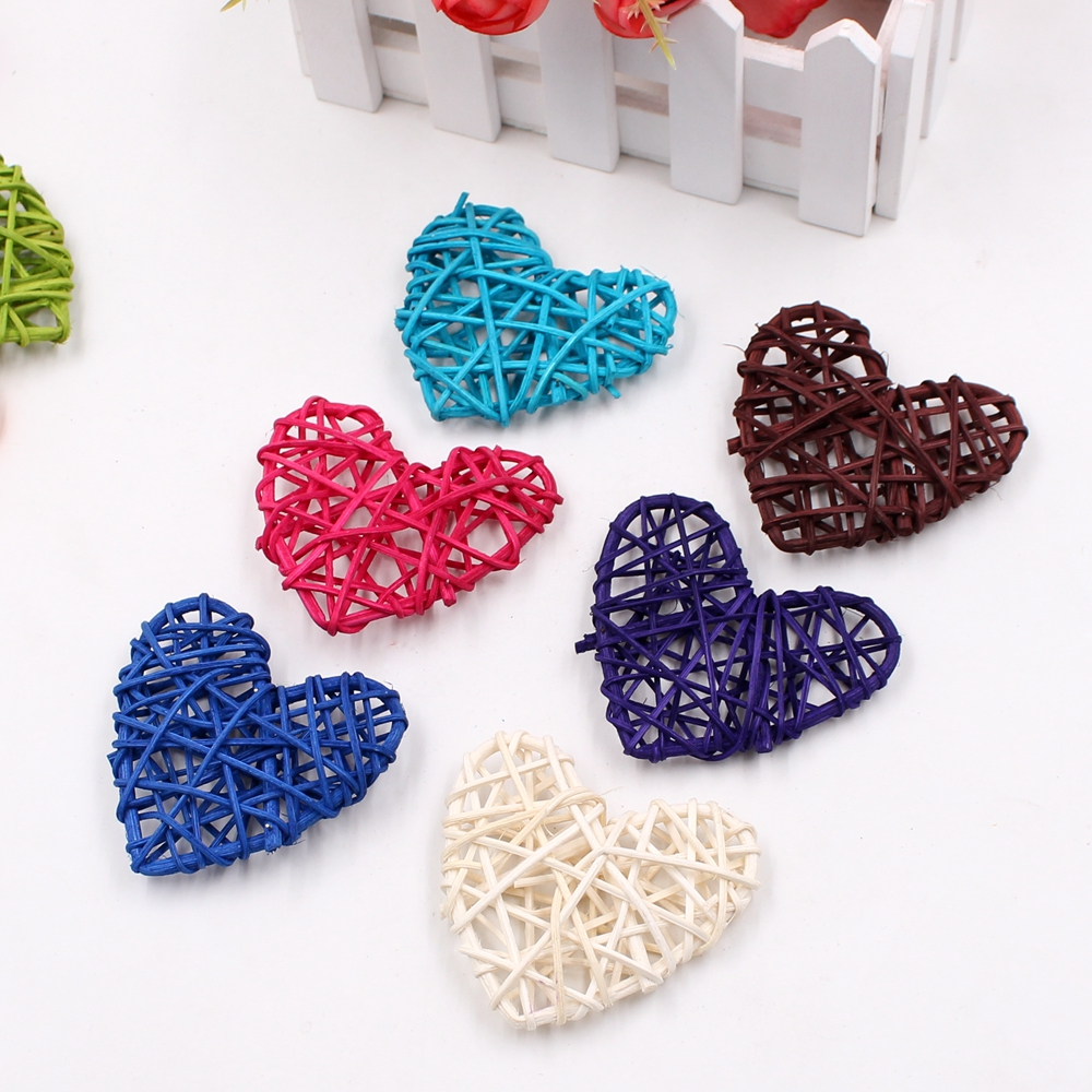 5pcs heart-shaped rattan ball Sepak Takraw for Christmas birthday party and family wedding party decorate rattan ball 10 colors