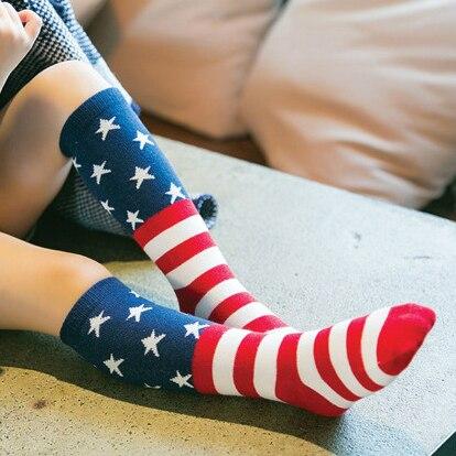 American stars stripes flag fashion Children socks...