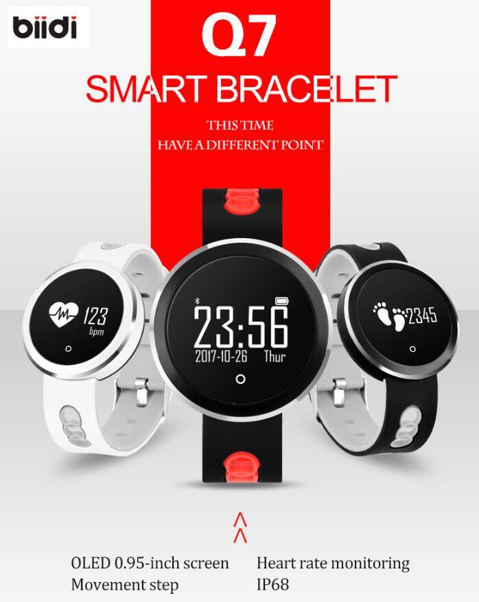 Q7 IP68 Waterproof Bluetooth 4 0 Smart Watch Heart Rate Blood Pressure Smart Bracelet Fitness Tracker