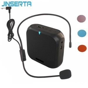 Image 1 - JINSERTA Portable Speaker Amplifier Mini Voice Megaphone Waist Band Clip Support TF Card U Disk for Teacher Tour Guide Promotion