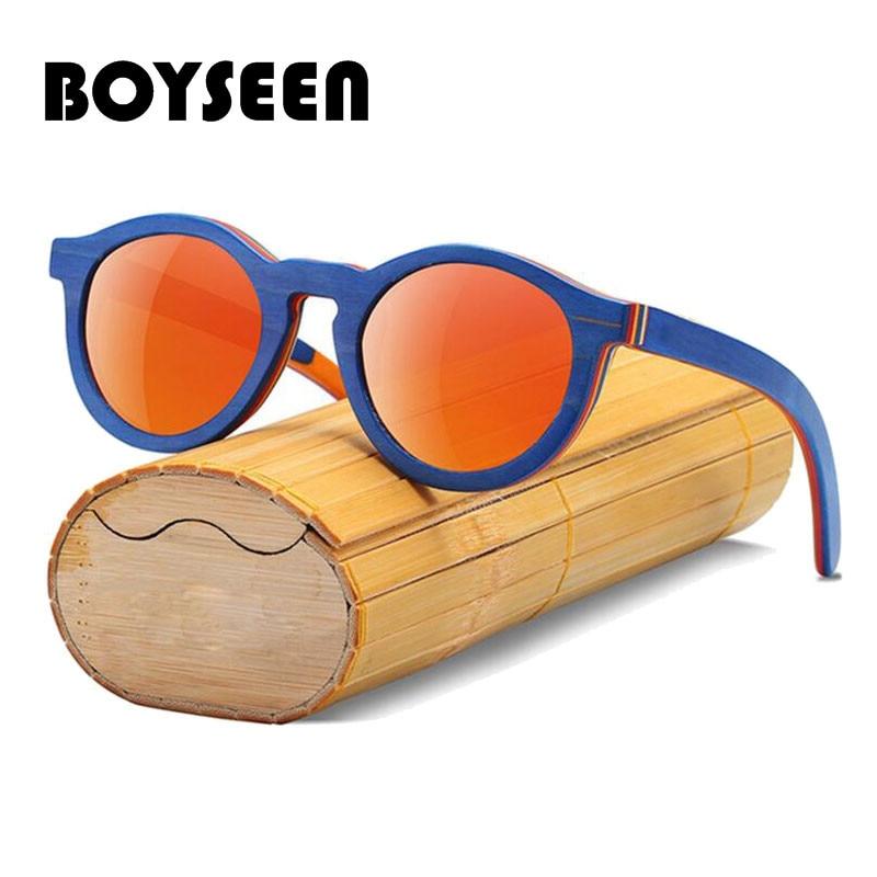 Boyseen 2018 Skateboard Kinder Handgemachte Sonnenbrille Sonnenbrille Uv400 Schutz Holz Kinder Sonnenbrille 5635