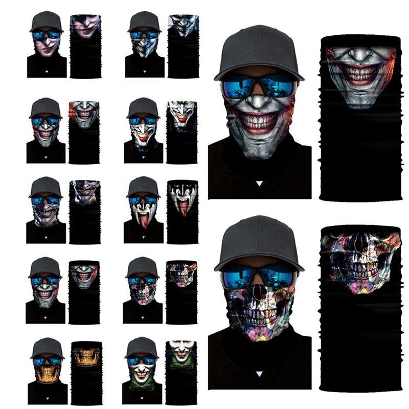 special sales limited guantity best place Hallowmas Face Scarf 3D Skull Seamless Face Bandana Tour de Cou Moto  Multifunctional Scarf Biking Bragas Cuello Bandana Naruto