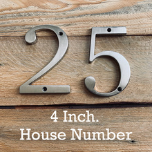 Satin Nickel 4 101mm Height House Number Door Address Number Digits Zinc Alloy Screw Mounted Big Mailbox Address Sign #0-9 plastic sliver house number 70mm 0 1 2 3 4 5 6 7 8 9 plaque number house hotel door address digits sticker plate sign