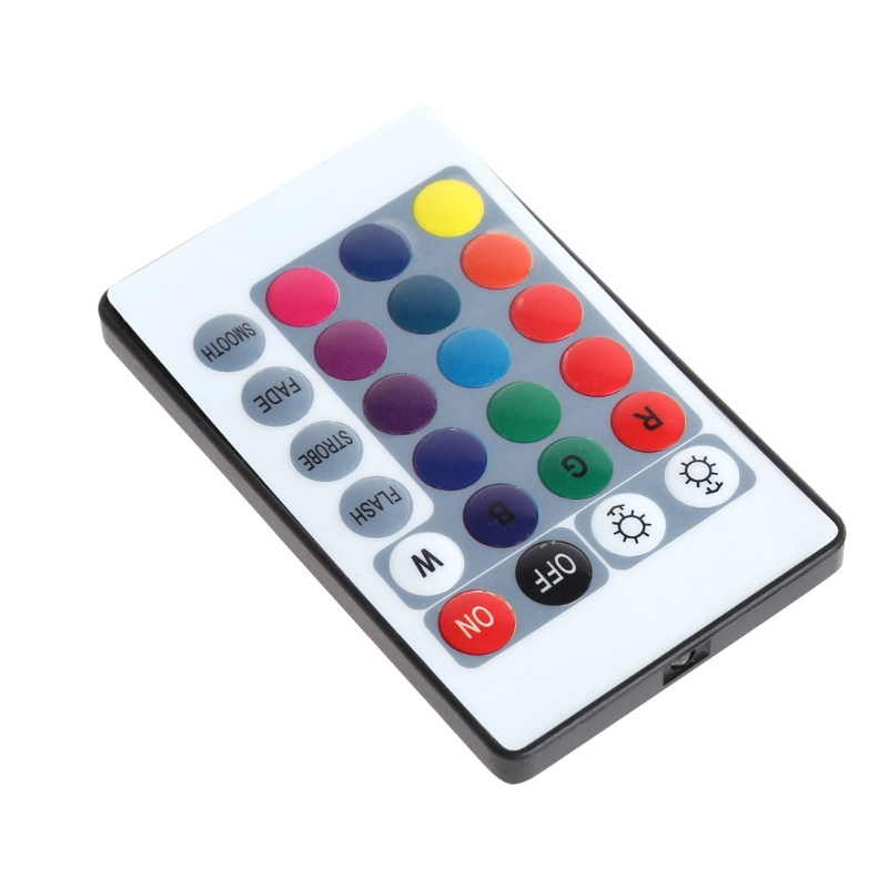YAM LED 24 Keys IR Remote Controller Wireless For 3528 5050 RGB SMD Strips New
