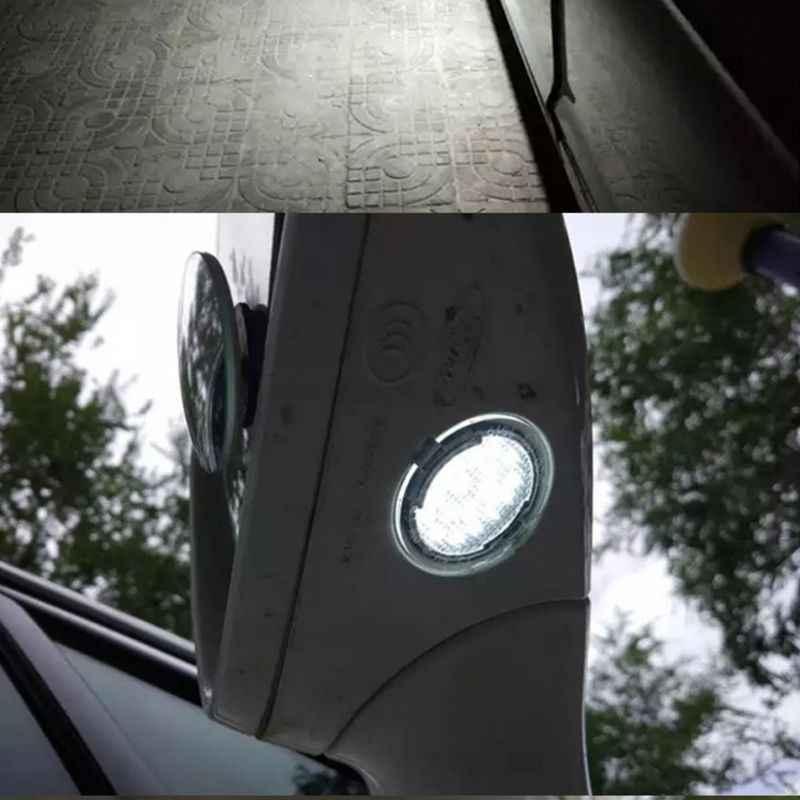 2Pcs LED Di Bawah Sisi Cermin Genangan Cahaya untuk Ford Edge Fusion FLEX Explorer Mondeo Taurus F-150 Ekspedisi