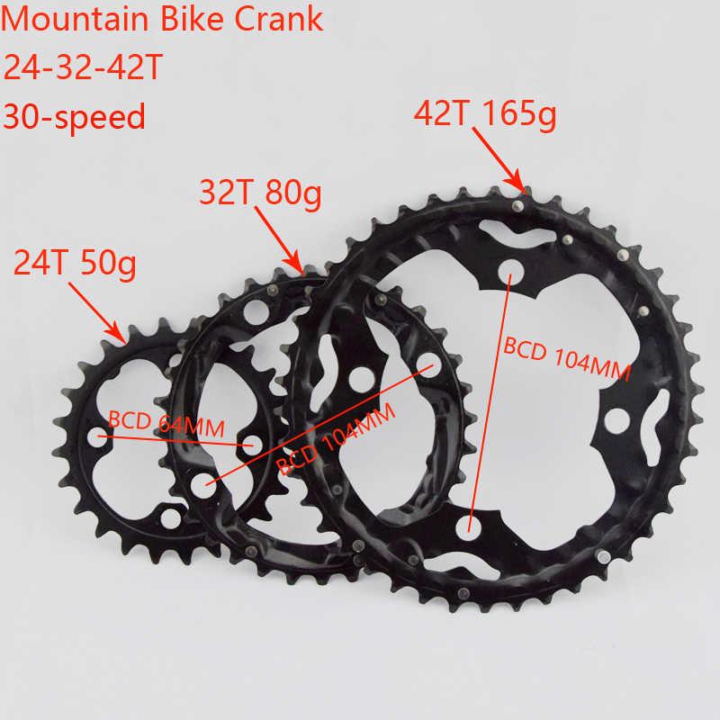 Shape MTB Chainring Bicycle Chainwheel 104BCD Bicycle Crank Bike Circle Crankse