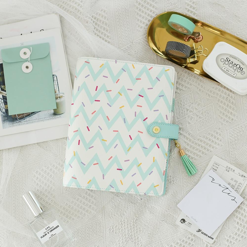 Lovedoki 2019 Cute Doughnut A5 Planner Dokibook Spiral Notebooks Organizer Agenda for Filofax Student Diary Stationery