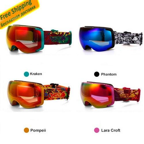 Ski goggle ciclismo snowboard googles dobles anti-vaho gafas de lente anti-raspa