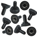10Pcs Mini Toggle Switch Waterproof Rubber Resistance Boot Cover Cap Lid Black New