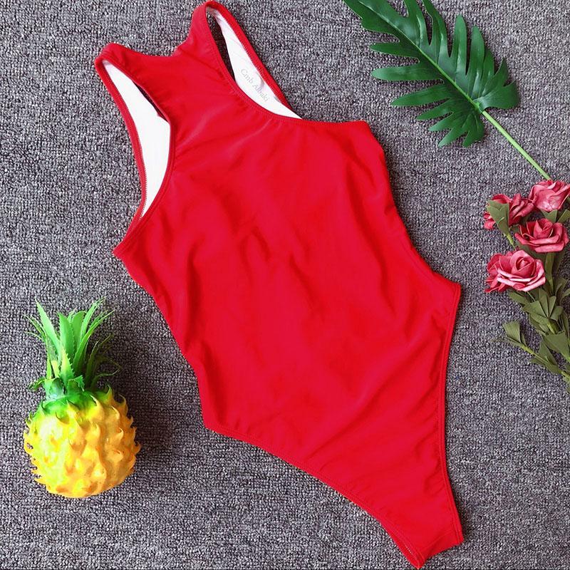 INGAGA, сексуальный цельный купальник на молнии, полосатый купальник, женская одежда для плавания с открытой спиной, монокини, спортивный купа... 50