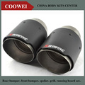 One PCS Carbon Fiber Coated Stainless Steel Universal Car Exhaust Pipe Tip Tailtip Akrapovic Car Exhaust Muffler Tip