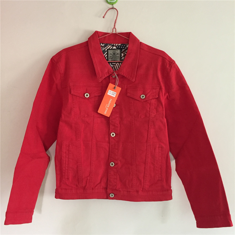 Popular Red Denim Jacket-Buy Cheap Red Denim Jacket lots from ...