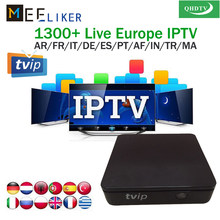 With 1year QHDTV iptv subscription account 3 6 12 Months for TVIP 412 Linux android dual OS 1G ram 8GB TVIP412 arabic iptv box(China)