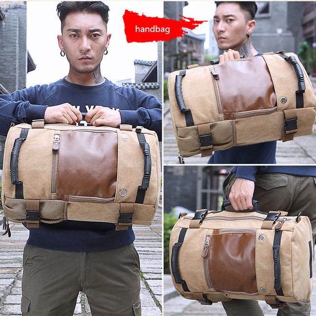 Brand Men Backpack Large Capacity Travel Bag Male Luggage Canvas backpack Shoulder Computer Backpacking Functional Laptop