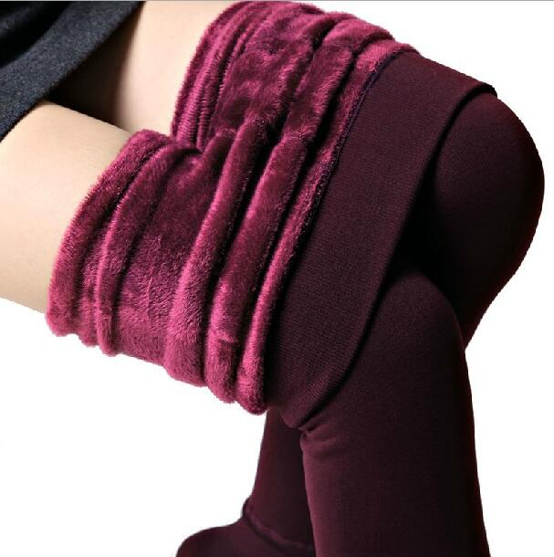 New Fashion Autumn and Winter Women's Pants High Elasticity and Good Quality Thick Velvet Pants Leggings 10E